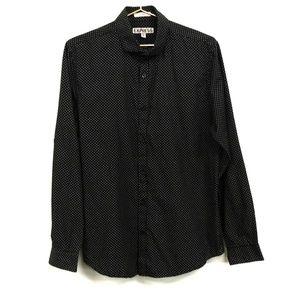 Express Polka Dot Button Down Dress Shirt Sz Med
